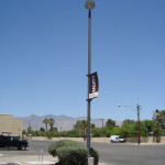 PARKING LOT POLE AND LUMINAIRE | Pole lights are difficult to service because they are not easily accessible. Duffy Electrical Contractors provides lighting maintenance on an as needed basis rather than a monthly fee basis. This saves the property owner having to pay even though no services are performed.